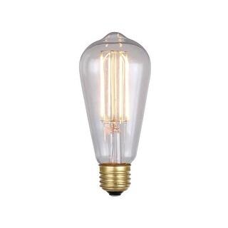 Canarm B-LST64-6 Single 6 Watt Dimmable Vintage Edison Medium (E26) Base ST64 Shape LED Bulb