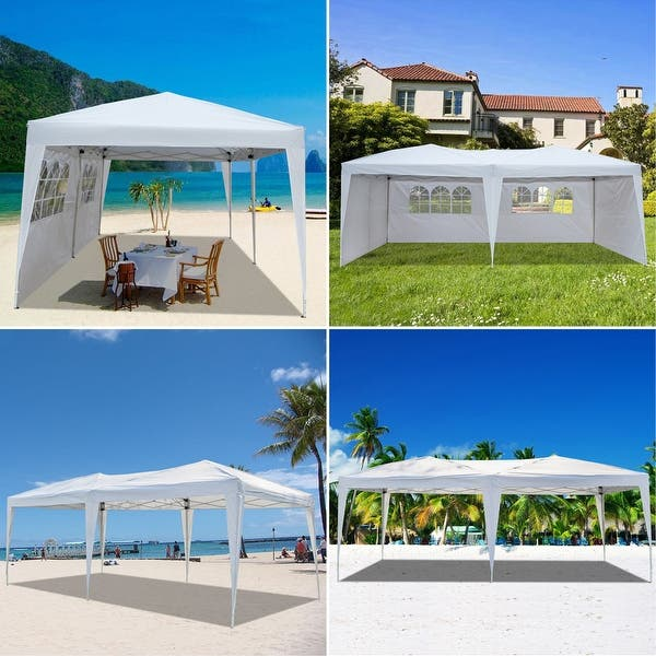 2.5x2.5M,Blue MasterCanopy Pop Up Gazebo Tent Outdoor Portable Gazebo,Beach Gazebo with Wheel Bag