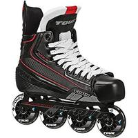 Tour Hockey Mens Code 7 Sr Inline Hockey Skate, Black, 10