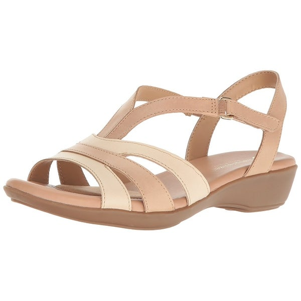 Naturalizer Womens Neina Leather Open Toe Casual Ankle Strap Sandals