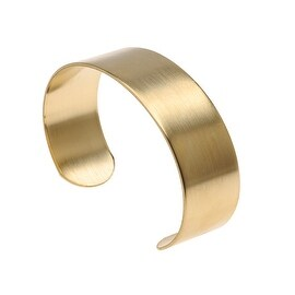 Solid Brass Flat Cuff Bracelet Base 19mm (0.75 Inch) Wide (1 Piece)