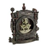 The Grand Machine Steampunk Style Bronze Finished Mantel Clock