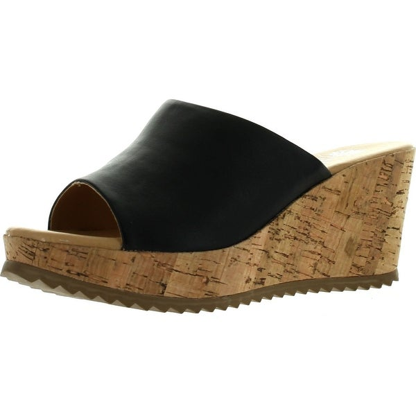 Good Choice Womens Bliss Platform Wedge Slide Sandals