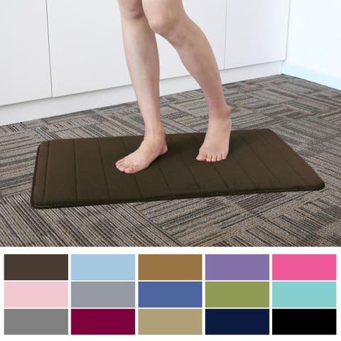 Bath Rug Non-slip Soft Memory Foam Carpet Shower Floor Mat 32 x 20 Inch