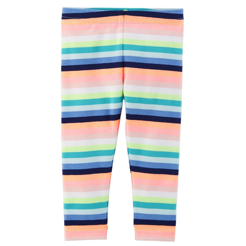Shop Carter S Little Girls Striped Capri Leggings Overstock 26428998
