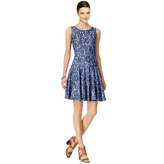 Tommy Hilfiger Denim Lace Sleeveless Fit & Flare Dress