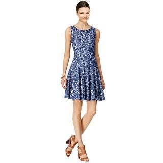 Tommy Hilfiger Denim Lace Sleeveless Fit & Flare Dress