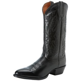 Nocona Boots Mens Cowboy, Western Boots Leather Embroidered - 8.5 extra wide (e+, ww)