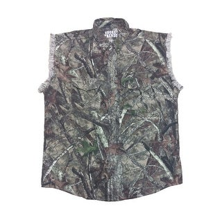 Camo Hunting Sleeveless Denim Shirt Camouflage Authentic True Timber Vest M-6XL (More options available)