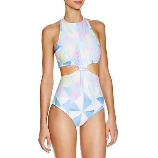 Mara Hoffman Womens Printed Halter Monokini Swimsuit