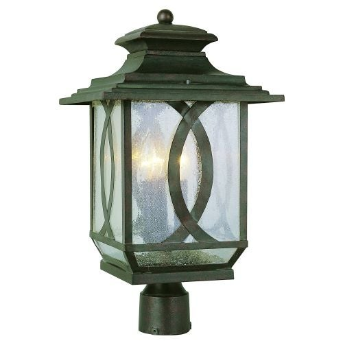 Trans Globe Lighting 5194 Three Light Up Lighting Large Outdoor Post Light from the Outdoor Collection