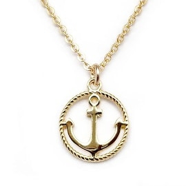 Julieta Jewelry Anchor Rope Halo Charm Necklace