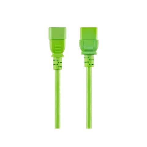 Monoprice Power Cord - 10 Feet - Green, IEC 60320 C14 to IEC 60320 C19