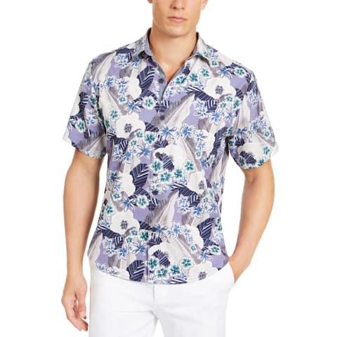 Tommy Bahama Mens Big & Tall Button-Down Shirt Silk Blend Printed - Kona Coast - XXXL