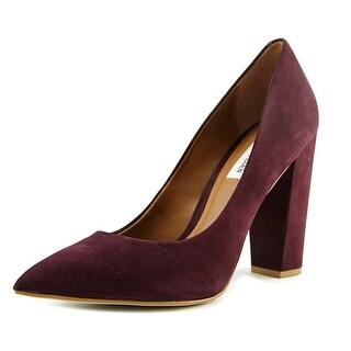 Steve Madden Primpy Women Pointed Toe Leather Burgundy Heels