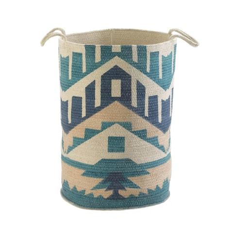 Interior Santa Fe Canvas Basket - Blue