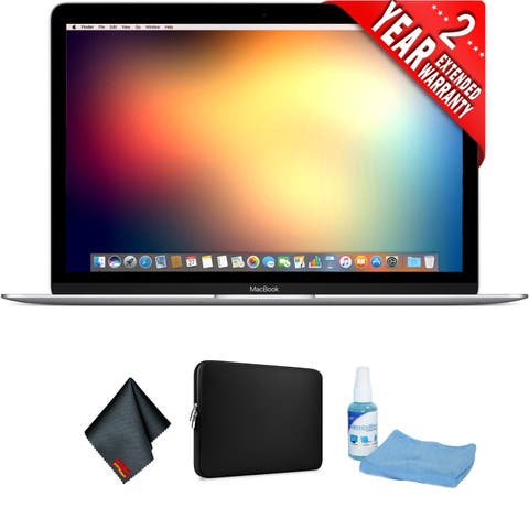 "Apple 12"" MacBook (Mid 2017, Silver) Bundle"