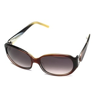 Boucheron Unisex Jeweled Round Frame Sunglasses Brown - Small