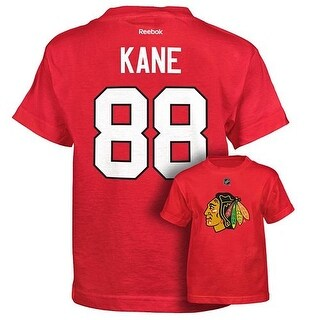 Patrick Kane Chicago Blackhawks Adult Gametime Twill T-Shirt Size Large New