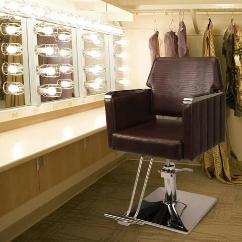 Hydraulic Leather Barber Chair Hair Styling Beauty Salon Heavy Duty