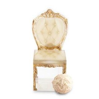 Weddingstar 9506-55 Transparent Chair Favor Boxes Print Gold