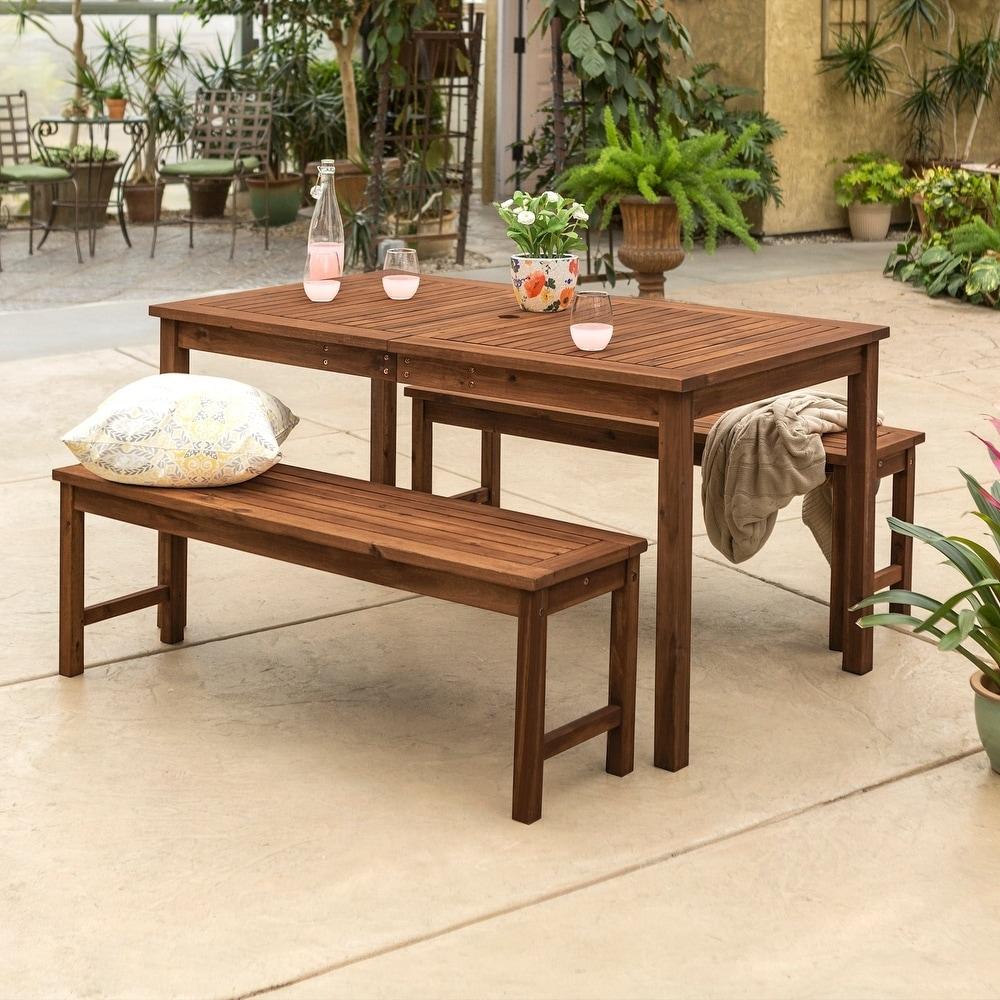 Havenside Home Surfside 3-piece Acacia Outdoor Dining Set
