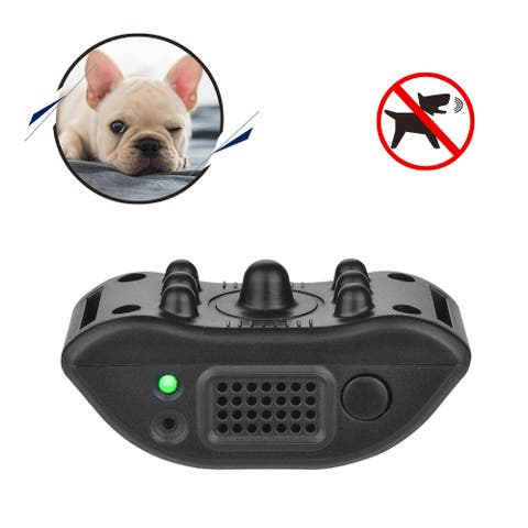 Smart Bark Collar Dog Training Tool with Owners Voice Recording - M