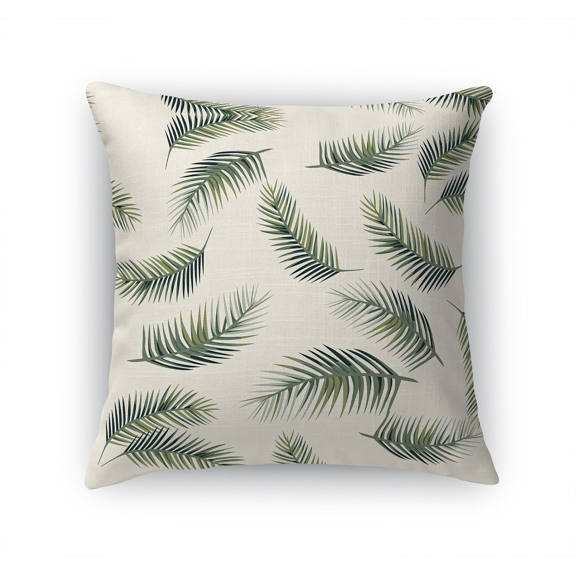Palm Leaves Seamless Accent Pillow By Kavka Designs Overstock 31734019