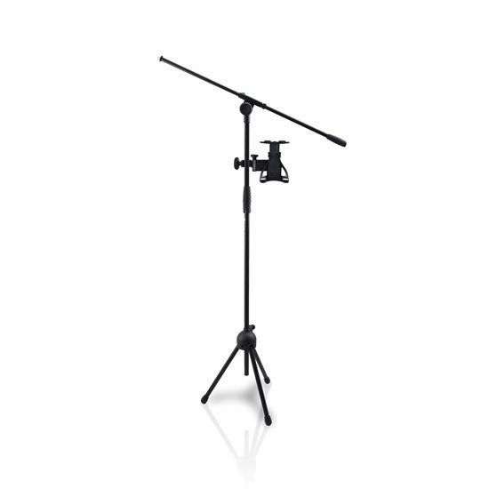 "2-in-1 Microphone and Tablet Stand with Adjustable Height for all Tablets 4.7"" to 8.7"" Tall"