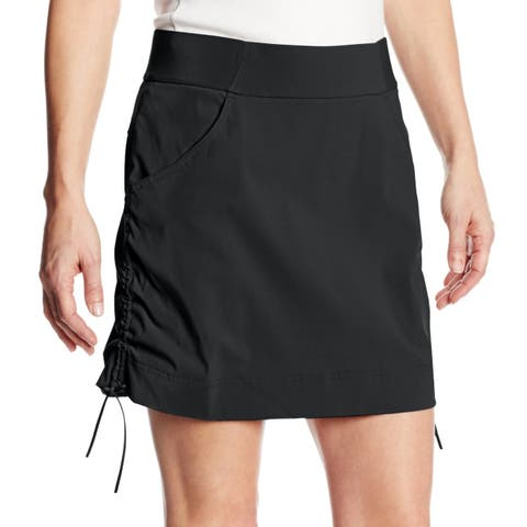 Columbia Black Womens Size XL Drawcord Ruched Layered Activewear Skort