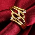 Gold Crystal Jewels Abstract Ring - Thumbnail 2