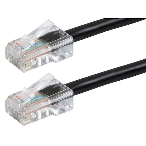 Monoprice Cat6 Ethernet Patch Cable - 1 Feet - Black, RJ45, 550Mhz, UTP, 24AWG