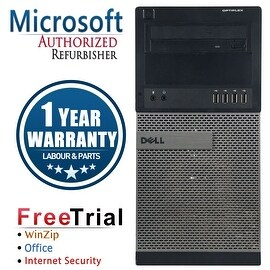 Refurbished Dell OptiPlex 790 Tower Intel Core I3 2100 3.1G 8G DDR3 1TB DVD Win 7 Pro 64 Bits 1 Year Warranty