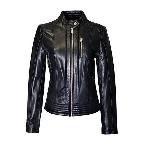 1f585fcaeae9 Shop Michael Kors Black Leather Moto Jacket - Free Shipping Today -  Overstock - 19755901