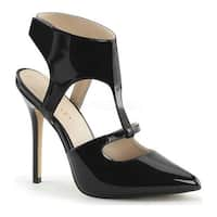 Pleaser Women's Amuse 19 Black Patent