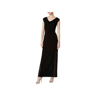 Connected Apparel Womens Evening Dress Illusion Full-Length