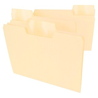 Smead SuperTab File Folder, Letter, Manila, Pack of 24