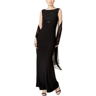 Jessica Howard Womens Evening Dress Embellished Hidden Back Zip