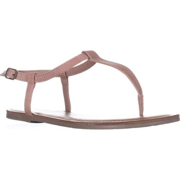 AR35 Krista Thong T-Strap Flat Sandals, Blush