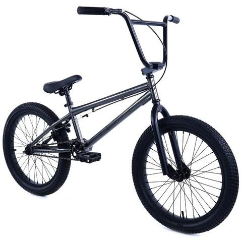 "Elite 20"" BMX - Stealth Bicycle Freestyle Bike - Gunmetal Grey"