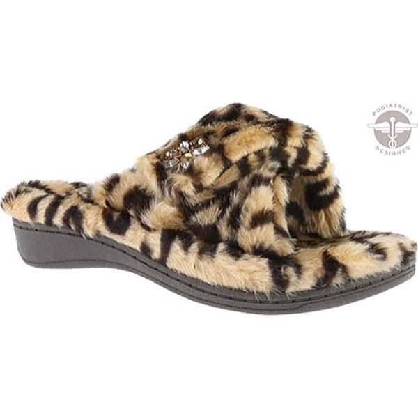 522ab0ff6044 Shop Vionic Women's Relax Luxe Slipper Tan Leopard - Free Shipping ...