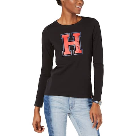 Tommy Hilfiger Womens Varsity Letter Graphic T-Shirt