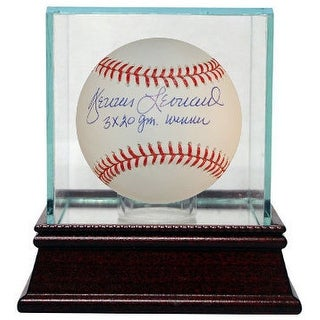 Dennis Leonard signed Official Major League Baseball 3 X 20 Game Winner w/ Glass Case (Kansas City Royals)