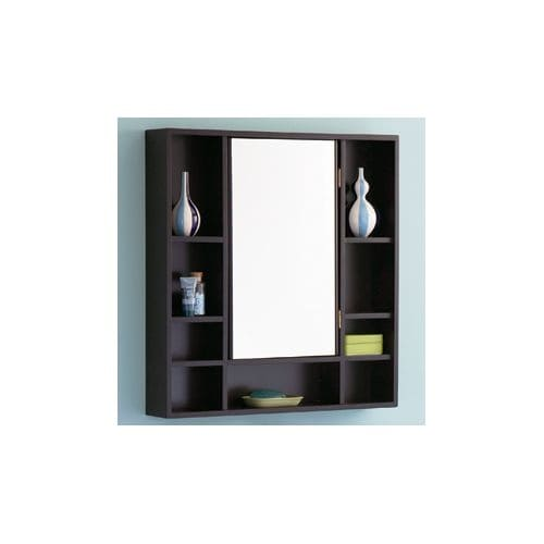 """DecoLav 9700 30"""" Solid Wood Medicine Cabinet with Exterior Accessory Shelves"""