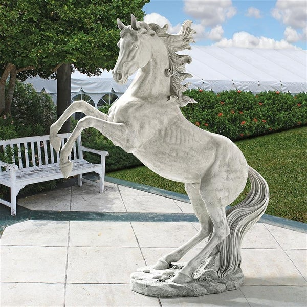 Design Toscano Unbridled Power Equestrian Horse Statue: Life Size