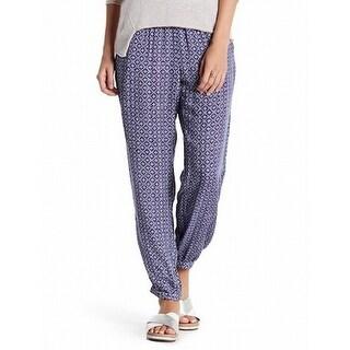 Velvet By Graham & Spencer NEW Blue Womens Size Large L Print Pants