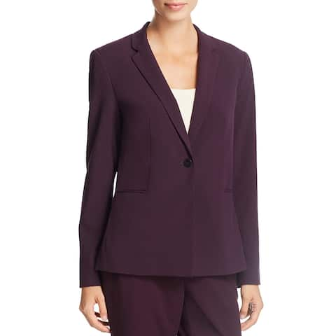 T Tahari Womens Brenda One-Button Blazer Long Sleeves Business