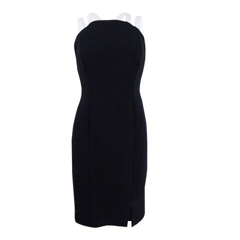 Lauren Ralph Lauren Women's Petite Sleeveless Cocktail Dress - Black/Pearl