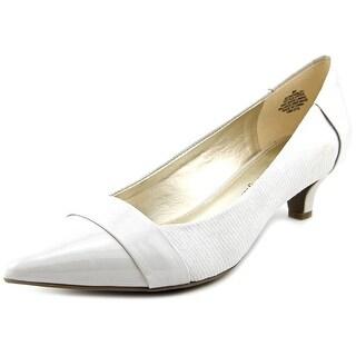 Anne Klein 7Mckinley Women W Pointed Toe Canvas Heels