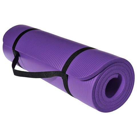 Health And Fitness Extra Thick 71-Inch Comfort Foam Yoga Mat For Exercise